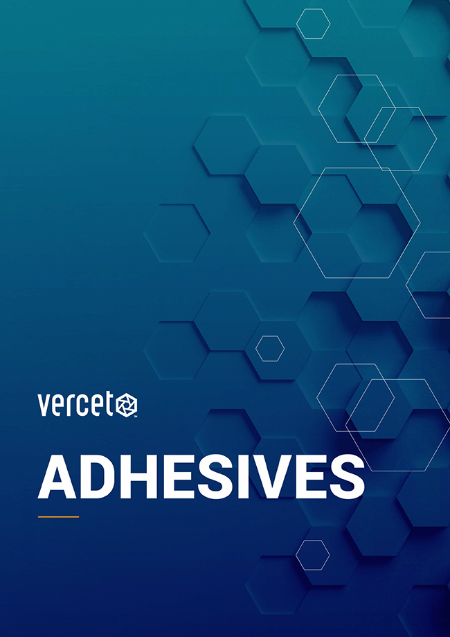 Vercet Adhesives brochure cover