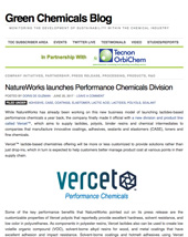 Green Chemicals Blog Vercet Launch